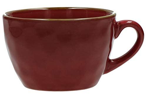 Concerto Rosso Malaga Cup Frühstückstasse Rot große Tasse rustikaler mediterraner Italien Retro Stil Becher Tasse Kaffeetasse