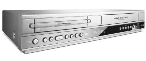 Philips DVP 3350 V / 02 DVD-Player / Video-Rekorder Kombination (DivX-zertifiziert) silber