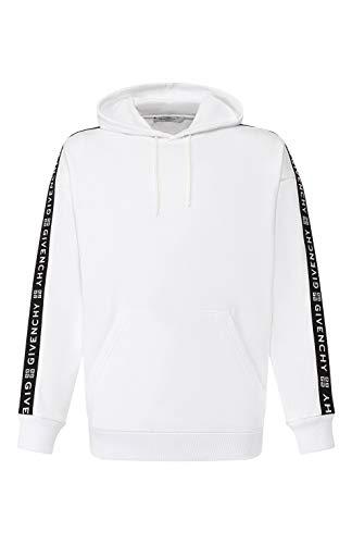 Givenchy Herren-Sweatshirt weiß mit Kapuze und Streifen 4G, Weiß XX-Large