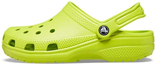 Crocs Unisex-Erwachsene Classic Clogs, Neongrün (Lime Punch), 50/51 EU
