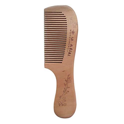 wdoit Madera pelo peine Barba, Styling Cepillos hairb Rush Fur de hombres y...
