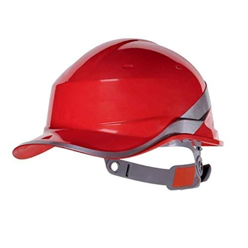 ZBM-ZBM Casco Tipo V Tira Fluorescente LED Aislamiento Antiácaros ABS Obra De Construcción Construcción Casco De Ventilación Gorra De Béisbol PPE Casco de Seguridad Industrial (Color : Red) ✅