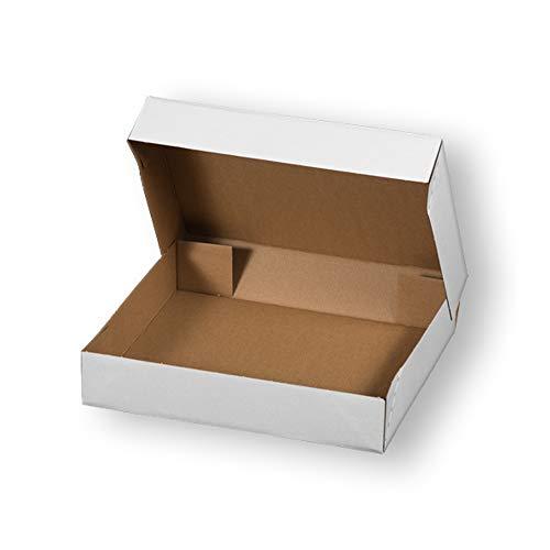 Faltschachtel eCommerce 20 Stück in weiß | Versandkartons in 4 Größen | Maxibrief-Karton, Faltbodenschachtel, Verpackungskarton für Warensendung | Movepack® (400 x 300 x 80 mm)