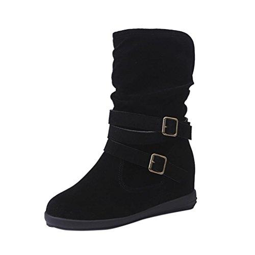 Zapatos Mujer Otoño Invierno Moda Botas de Nieve Mujer Botines de Mujer Zapatos de Nieve cálida Botas de Plataforma Zapatos de tacón Zapatillas Zapatos Interiores