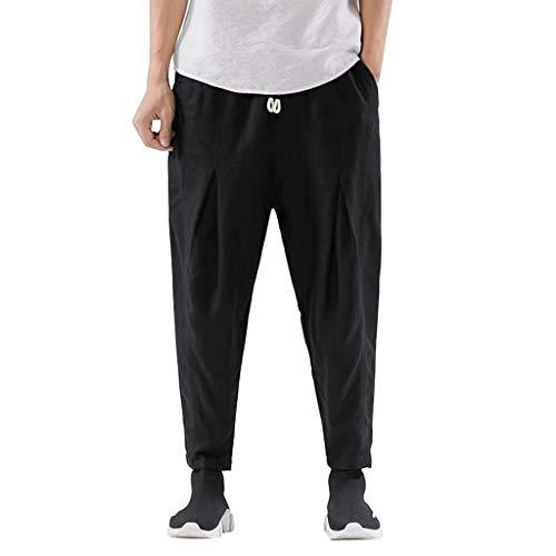 Herren Hose Leisure Pants Herren Relaxed Hose,Herrenmode einfarbig Kurze Hose Herrenmode Reine Farbe Hose Größe Hose M-3XL