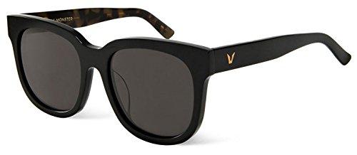 Unisex Gafas de Sol de Moda para Conducción Pesca Esquiar New Gentle Man or Women Monster eyeware V Brand DIDI D Sunglasses for Gentle Monster Sunglasses -Black Frame Black Lenses
