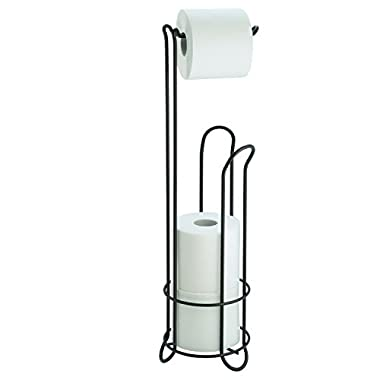 InterDesign Classico - Free Standing Toilet Paper Holder for Bathroom Storage - Bronze