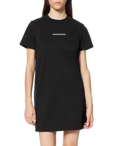 Calvin Klein Jeans Milano T-Shirt Dress Vestido, CK Black, XL para Mujer