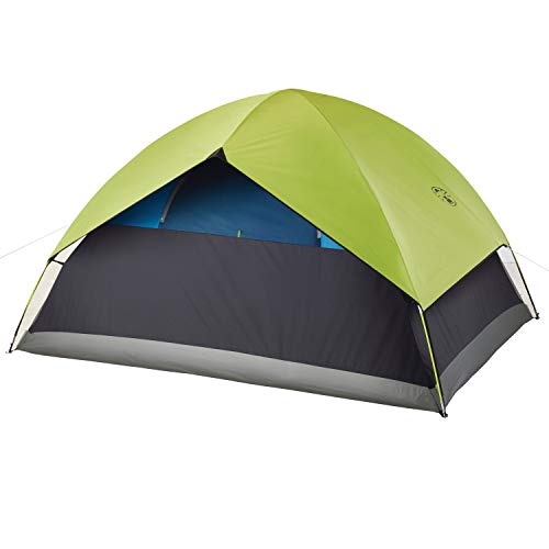 Coleman 6-Person Dark Room Sundome Tent, Green/Black/Teal
