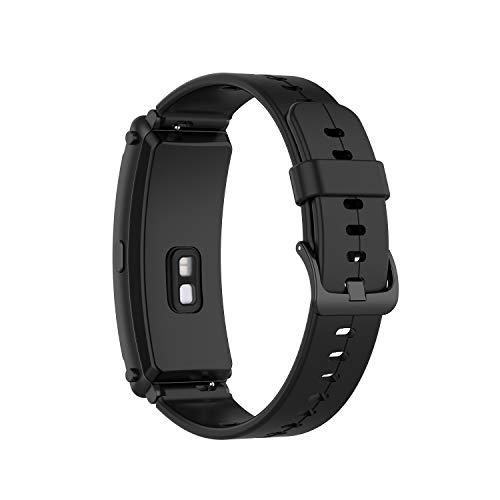 BoLuo Correa para Huawei TalkBand B6,Bandas Correa Repuesto,Correas Reloj,Silicona Reloj Recambio Brazalete Correa Repuesto Strap Wristband para Huawei TalkBand B6/TalkBand B3 Accessories (negro)