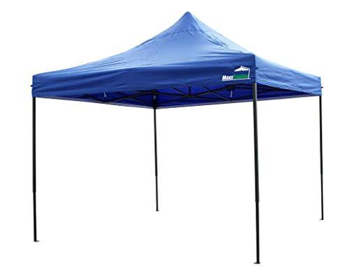 MaxxGarden Pavillon 3x3m - wasserdicht - Pop-Up - inkl. Tasche - UV-Schutz 50+ - Faltpavillon Gartenzelt Partyzelt - Farbauswahl (Blau)