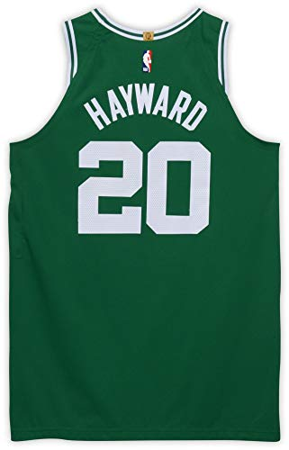 Gordon Hayward Boston Celtics Autographed Game-Used #20 Green Jersey from Game Four of Round One vs. the Indiana Pacers on April 21st during the 2019 NBA Playoffs- Size 46+4 - NBA Game Used Jerseys
