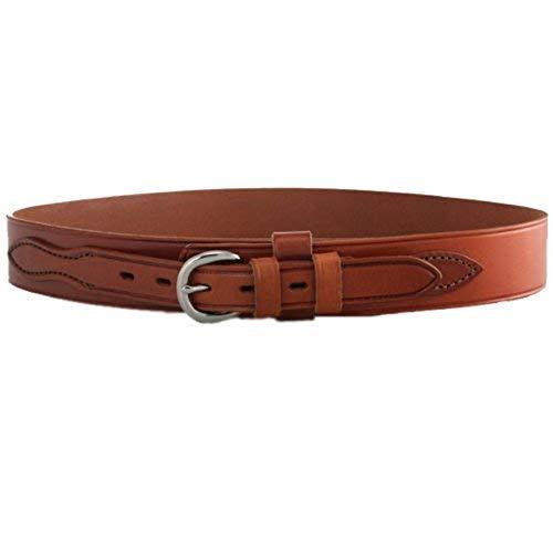 Bianchi B4 Ranger Belt, 1.75' Width, Plain Tan Finish, Brass Buckle, SZ38