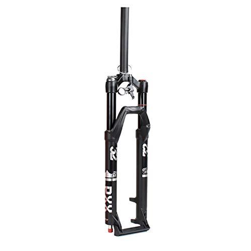 ZNND Horquillas de Suspensión Delantera MTB,Horquilla de Suspensión Bicicleta Control de Hombro/Control de Alambre Accesorios Bicicleta Horquilla (Color : C, Size : 27.5 Inch)