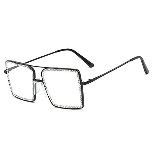 Moda transparente cuadrado gafas de sol marco de metal femenino overize hombre gafas marco simple nerd claro gafas sombras claras
