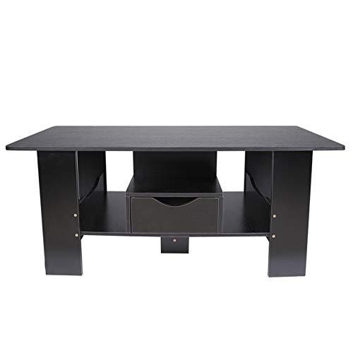 Mesa de té Color Negro Estilo clásico Muebles de Sala Sofá para el hogar Mesa Auxiliar Mesa de café Mesa de té