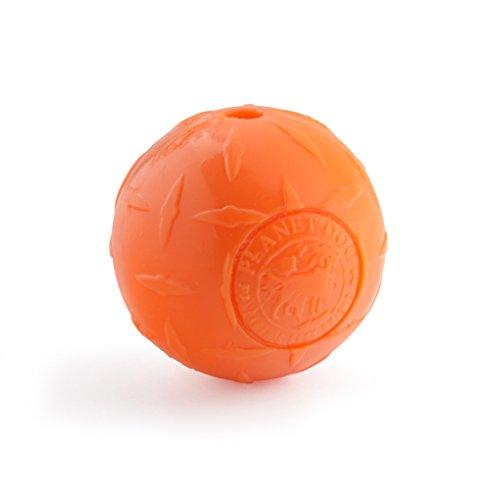 Planet Dog Orbee-Tuff Diamond Plate - Juguete con dispensador de recompensas para Perros - Textura con Forma de Diamantes - Naranja - Pequeño