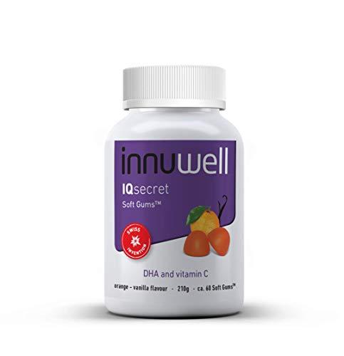 Innuwell IQsecret - DHA + vitamine C-supplement - Draagt bij aan de hersenfunctie, minder vermoeidheid en minder vermoeidheid - Glutenvrij - Natuurlijke product - ca. 60 Soft Gums™