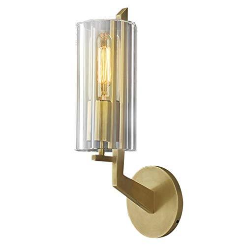 Luminaires & Eclairage/Luminaires intérieur/AP Applique Chambre Lampe de Chevet Lampe de lumière Simple cuivre Cristal Salon Lampe de Toilette Toilette Salle de Bains Miroir phares A+