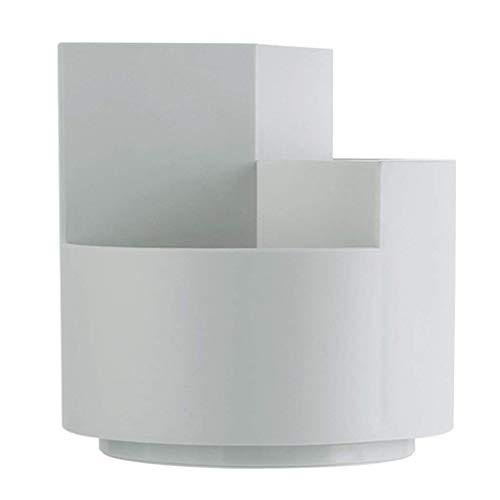 360 graden roterende penhouder, multifunctionele bureau organizer gestapt ontwerp voor kantoorbenodigdheden en bureau organizer penhouder cadeau lippenstift houder TNSYGSB (Color : Gray360°rotating)
