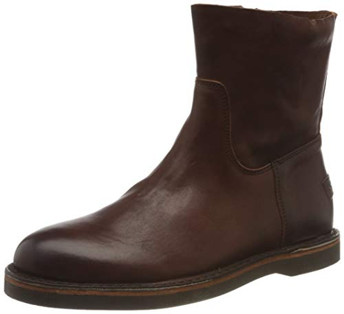 Shabbies Amsterdam Damen SHS0503 Ankle Boot with Zipper 1.5 cm Nappa Leather, Brown, 40 EU