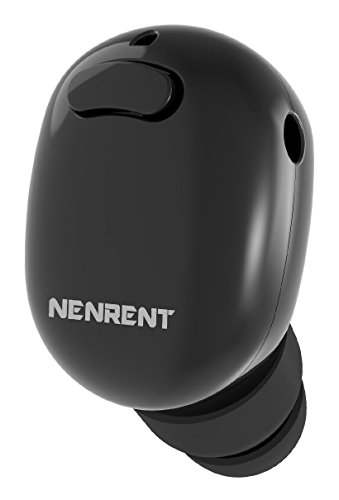 NENRENT S570 Bluetooth Earbud,Smallest Mini Invisible V4.1 Wireless Bluetooth Earpiece Headset Headphone Earphone with Mic Hands-Free Calls for iPhone iPad Samsung LG HTC Other Smartphones 1pcs ,Black