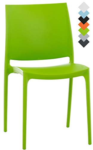 CLP Silla Apilable Maya De Exteior o Interior | Silla De Jardín Resistente A La Intemperie | Silla De Terraza Hecha De Polipropileno I Color: Verde
