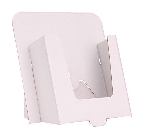 Stand-Store CARD-A5 - Espositore in cartone formato A5, confezione da 10, colore: Bianco