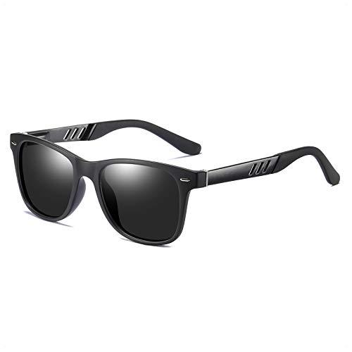 Polarized Sunglasses for Men Retro Aluminum TR90 Mens Sunglasses Driving Shades Grey Lens/Matte Black Frame2