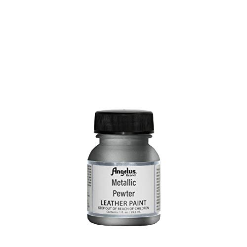 Angelus Pewter metallic lederen verf