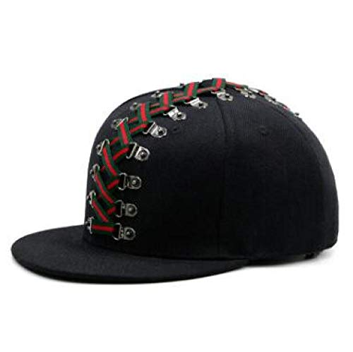 EOXO Gorras De Hombre Novedad Estilo Punk Gorra de Hip Hop Sombrero de Pareja Sombreros de ala Plana para Hombres Gorras de Moda con Personalidad para Mujeres