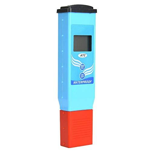 Tenpac Medidor de pH, Utiliza ampliamente el probador de pH a Prueba de Agua con compensación automática de Temperatura, para Piscinas, Agua Potable doméstica