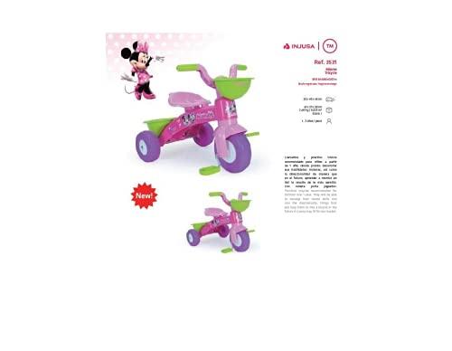 INJUSA - Triciclo Baby Trico Minnie Mouse Disney per bambini, colore rosa (3531)