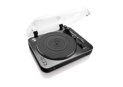 Lenco L-85 - Halbautomatischer USB Plattenspieler - Mit Bluetooth - Riemenantrieb - 2 Geschwindigkeiten 33 U/min , 45 U/min - digitalisieren ohne PC - schwarz