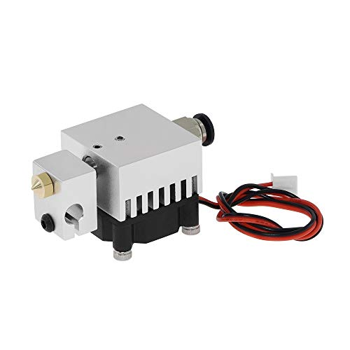 3D Hotend Kit 2 in 2 Out Extruder Multi-Extrusion All Metal V6 Dual Single Extruder 0.4mm/1.75mm 3D Printer Parts ZRONG (Color : Single Spray)