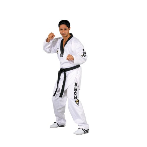 Kwon Starfighter Taekwondo Uniform Black Lapel white Size:200
