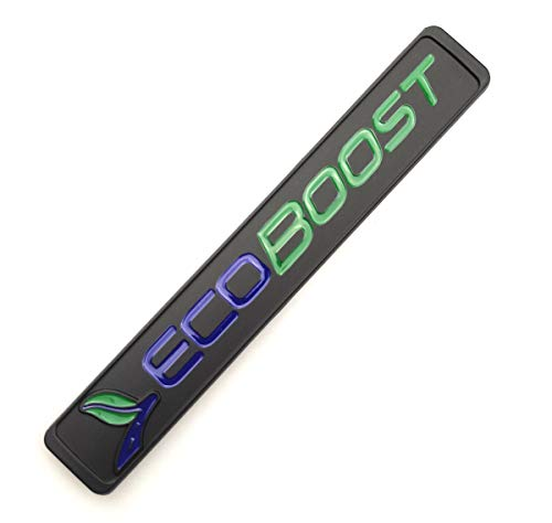 1Pc Ecoboost Badge Emblems 3D Nameplate Door Fender Tailgate Sticker Compatible for F150 Ecoboost 2011-2018 Origianl Size Genuine Parts (Black Geen)