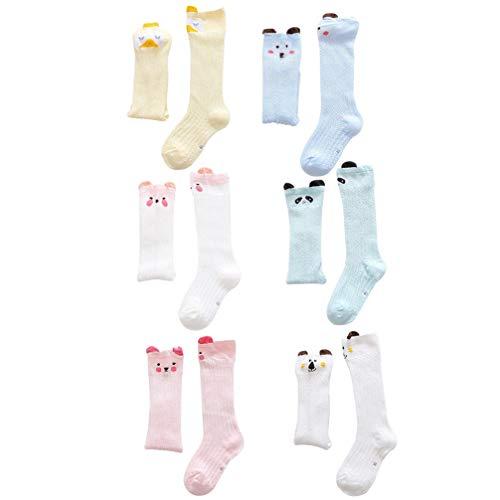 NUOBESTY 6 Pares de Calcetines Unisex para Bebé Calcetines de Malla de Verano Medias Transpirables Calcetines Antimosquitos para Niños Pequeños Regalo de Ducha para Bebés (1-3 Años)
