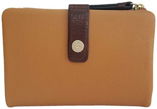 Radley 'Babington Plain' Medium Bifold Leather Purse in Tan