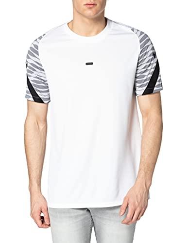 NIKE Dri-fit Strike - Camiseta de fútbol de Manga Corta para Hombre, Hombre, Camiseta de Manga Corta para fútbol, CW5843, Blanco/Negro/Negro, Large
