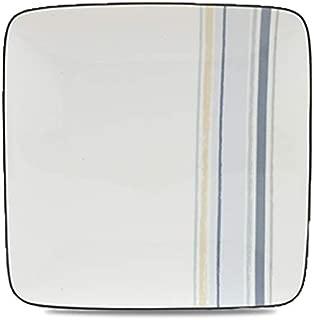 Noritake Java Graphite Swirl 7-1/2-Inch Square Plate