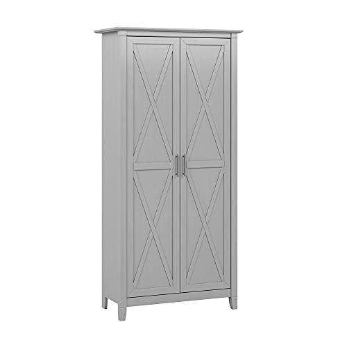 Bush Furniture Key West Kitchen Pantry Cabinet, Cape Cod Gray