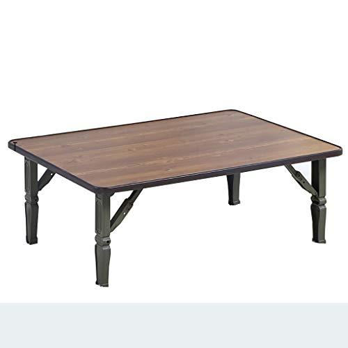 SH-tables Mesa plegable, estilo japonés, mesa baja, mesa de café/pequeño escritorio/mesa de comedor, para dormitorio Tatami, ventana de bahía, sala de té, altura 30 cm (tamaño: 70 cm)