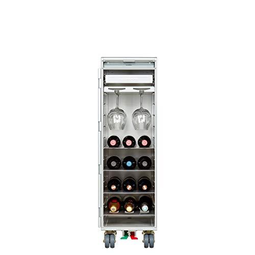 VanDeBord Ausstattungspaket Wein & Genuss, Zubehör für Airline Trolleys, Weinregal, Weinschrank, Weinbar (inkl. Gläserhalterung, Atlas)
