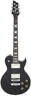 Aria PE350B - Guitarra Les Paul, color negro