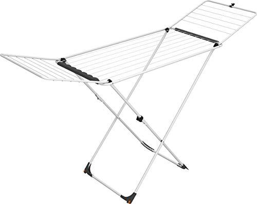 Vileda Universal Wäscheständer aus Stahl, 18 m Trockenleinenlänge, mit Rollen