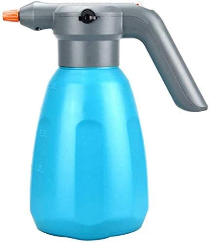 LLP LM Handheld Small Garden Electric Sprayer 2L Automatic Sprayer Bottle Battery Powered USB Rechargeable with Adjustable Flow Tip for Gardening, Fertilizing, Cleaning,Blue