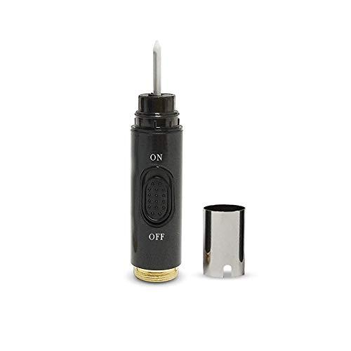 KACIG Sigaretta Elettronica Compatibile 650mAh Batteria Sostituibile/Rimovibile 8-10 Aspirazione Continua Funzionamento Semplice Tipo di Spinta E-cig, No Nicotina No E-liquid (riscaldatore nero)