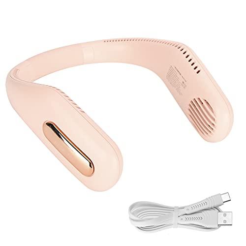 F41 Ventilador Portátil para Colgar en el Cuello,ventilador personal manos libres Mini USB recargable con banda para el cuello Ventilador sin aspas para exteriores, interiores, viajes, oficina