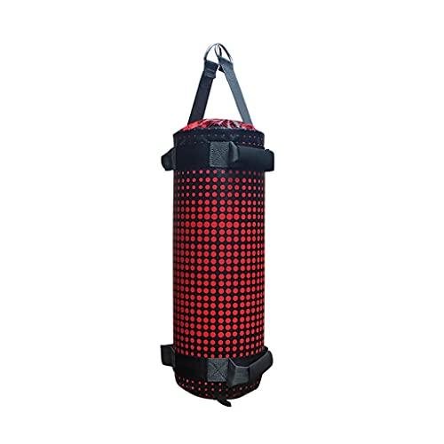 HCKLYTN Boxeo Sandbag Sanda Agua Arena Colgando Adulto Estudiante hogar Equipo de Entrenamiento Aptitud Paquete de energía de cojinete de Peso ll (Color : Red, Size : 20 * 50CM)
